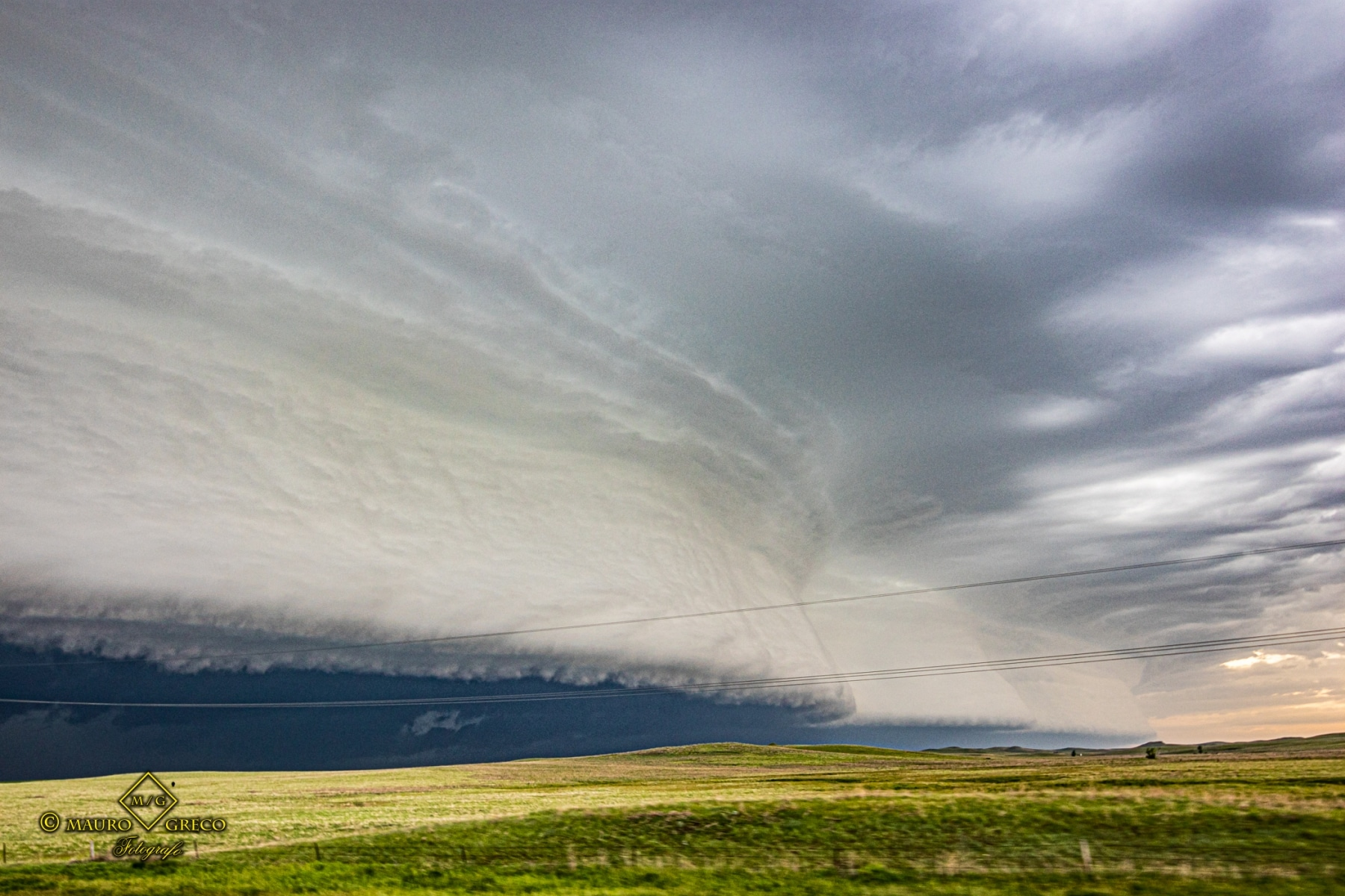 June 6 2020 Faith South Dakota Supercell and shelf cloud - Tornado Tour StormWind